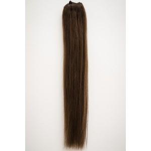 Gaštanovo hnedá / 50cm / 110g / Clip in vlasy