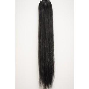 Ebenovo čierna / 50cm / 110g / Clip in vlasy