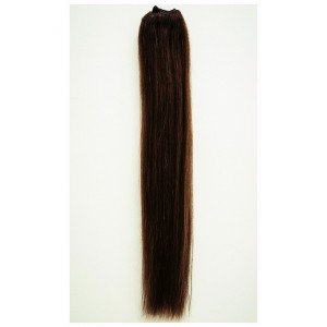 Tmavo hnedá / 50cm / 220g / Clip in vlasy
