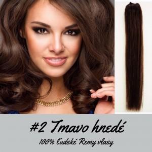 Tmavo hnedé / 50cm / 220g / Clip in vlasy