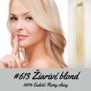Žiarivá blond / 50cm / 220g / Clip in vlasy