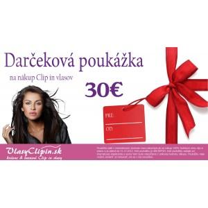 Dárčeková poukážka v hodnote 30€