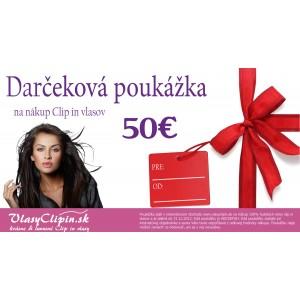 Dárčeková poukážka v hodnote 50€