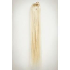 Žiarivá blond / 50cm / 110g / Clip in vlasy