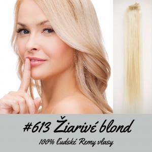 Žiarivé blond / 50cm / 110g / Clip in vlasy