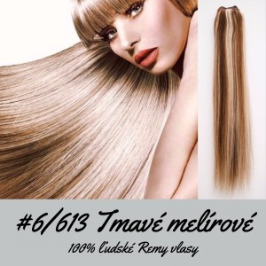 Melír 6/613 / 50cm / 55g / Clip in vlasy