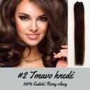 Tmavo hnedá / 50cm / 55g / Clip in vlasy