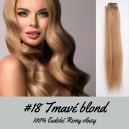 Tmavá blond / 50cm / 55g / Clip in vlasy