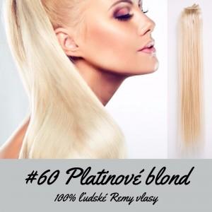 Platinové blond / 50cm / 110g / Clip in vlasy