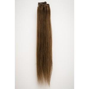 Čokoládovo hnedá / 50cm / 165g / Clip in vlasy